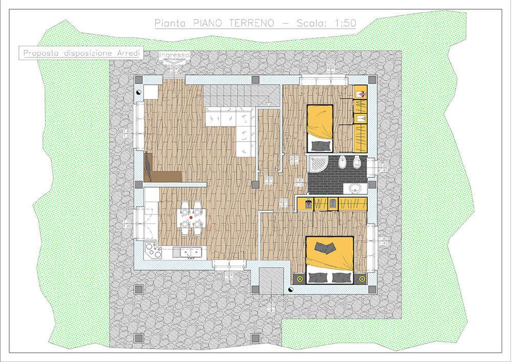 progetto planimetria villetta vendita e affitto impresa edile rec costruzioni generali