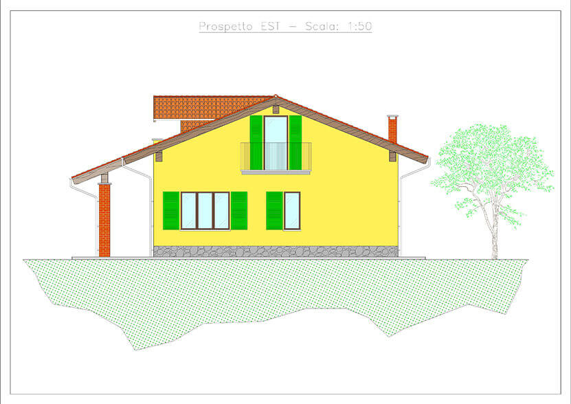 progetto prospetto villetta vendita e affitto impresa edile rec costruzioni generali