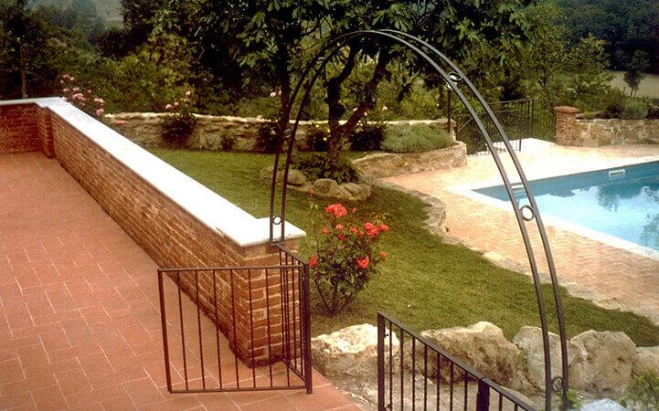 giardino con piscina impresa edile rec costruzioni generali