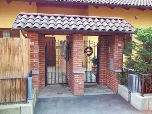 ingresso pedonale doppio per in mattoni pieni impresa edile rec costruzioni generali