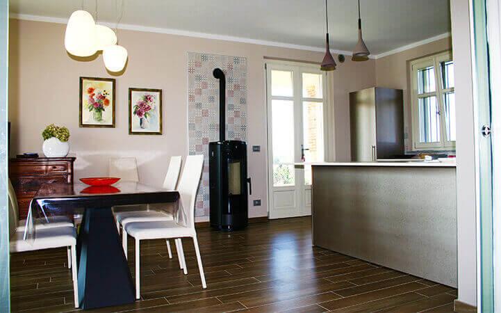 cucina moderna villetta nuova costruzione impresa edile rec costruzioni generali