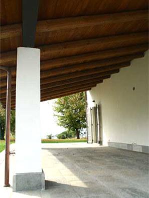 porticato in legno e pietra impresa edile REC