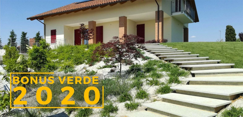 Bonus Verde 2020 per sistemazione aree verdi