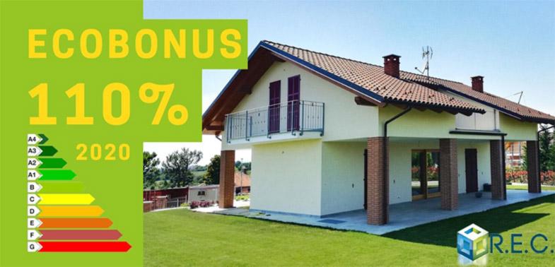 ecobonus 110% per miglioramento energetico REC Costruzioni